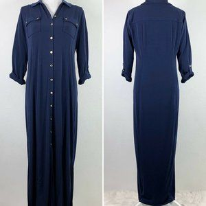 Chicos 1 Dress Button Front 3/4 Sleeve Collared